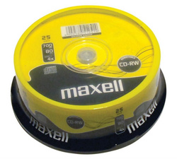 CD R MEDIJ MAXELL 700MB 1/25