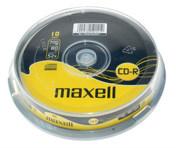 CD R MEDIJ MAXELL 700MB 1/10